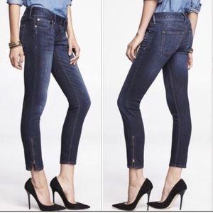 Express Stella Ankle Jeans Zip Detail